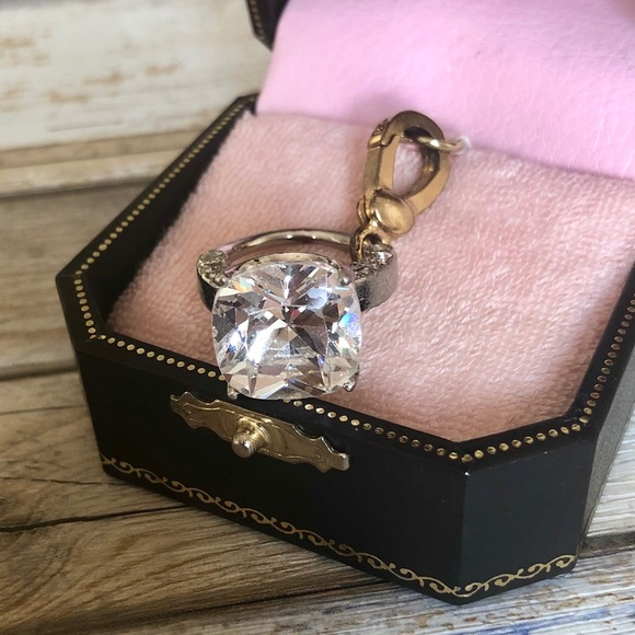 Juicy Couture Jewelry - Juicy Couture Diamond Wedding Ring Charm Pendant